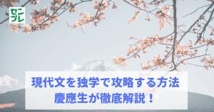 【大学受験】現代文を独学で攻略する方法|慶應生が徹底解説!