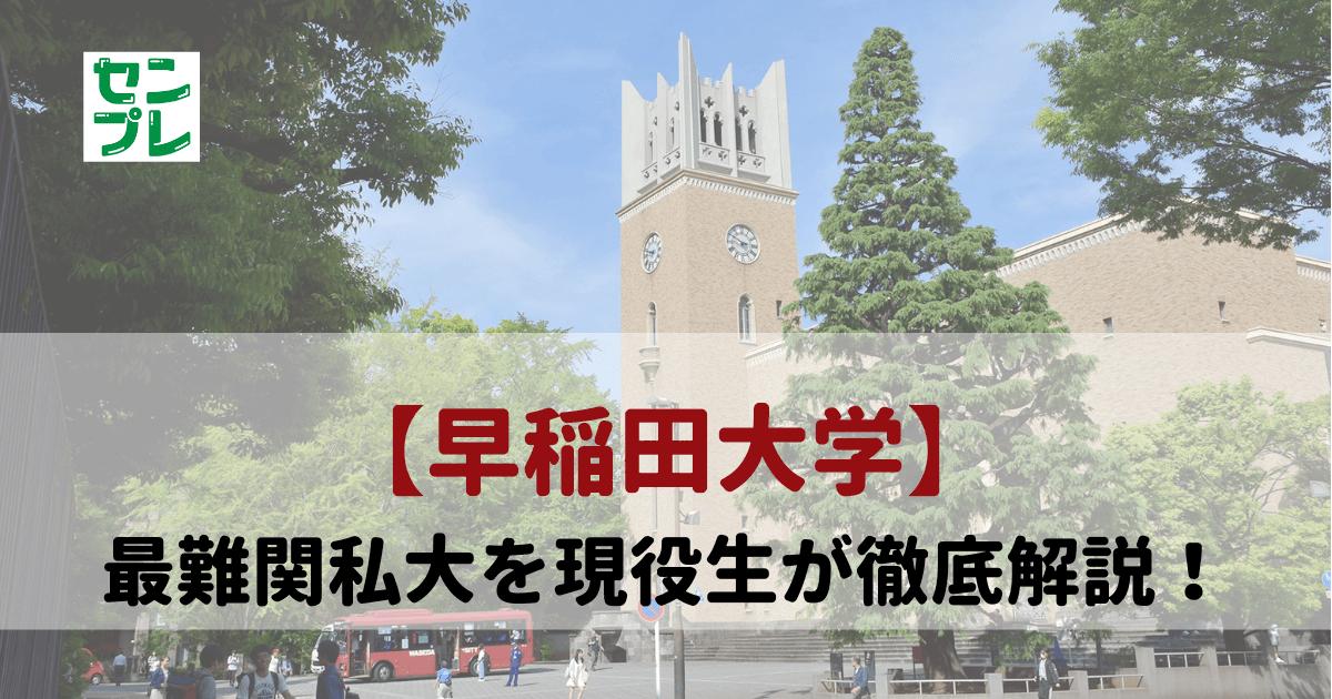 早稲田大学を現役生が徹底ガイド
